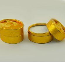 Коробочка овальная золотая