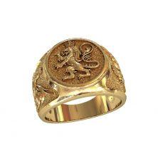 Кольцо лев геральдический