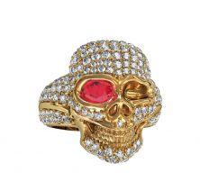 Женское кольцо череп