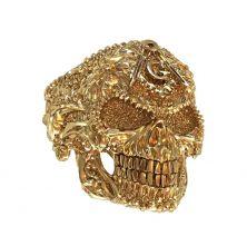 Кольцо череп масон