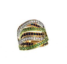 Кольцо полностью в камнях