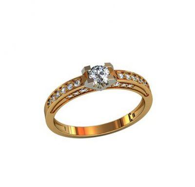 Женское кольцо серебро