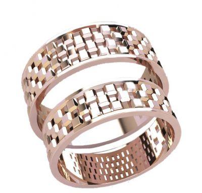 Обручальные кольца шахматка