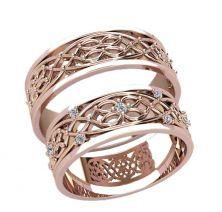 Обручальные кольца цветок