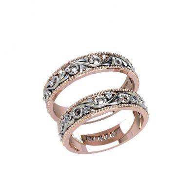 Обручальные кольца веточка