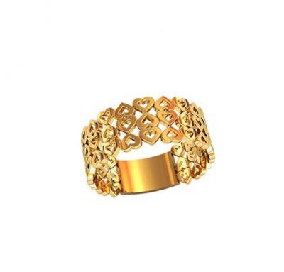 Кольцо женское с сердцем