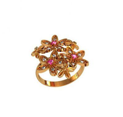 Женское кольцо цветы Гуччи