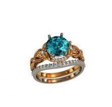 Кольцо с камнем женское