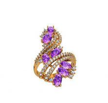 Широкое кольцо с цветными камнями