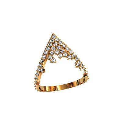 Тонкое кольцо с камнями