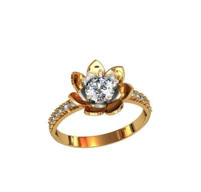 Кольцо цветок Pandora