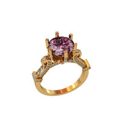 Кольцо роскошное золотое