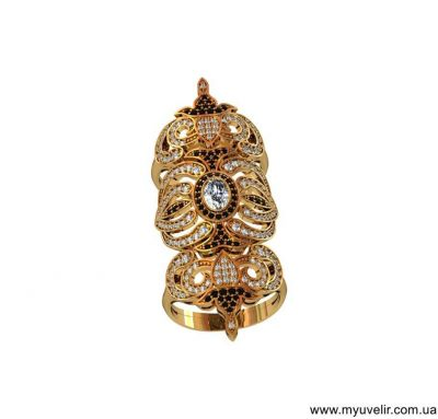 Кольцо на две фаланги