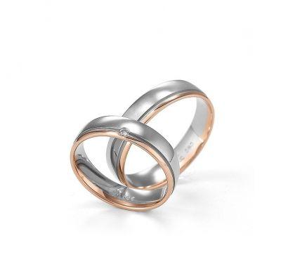 Золотые свадебные кольца комбинированные