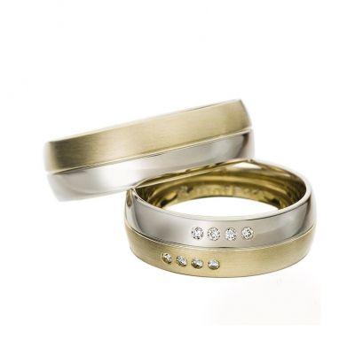 Комбинированные венчальные кольца