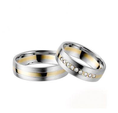 Комбинированные свадебные кольца