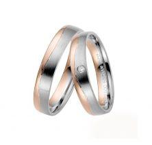 Свадебные кольца классические с камнями