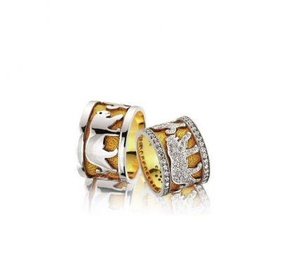 Обручальные кольца пантера