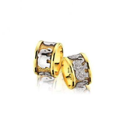 Обручальные кольца слоны