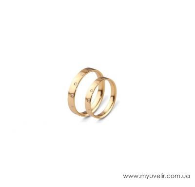 Золотые венчальные кольца классические