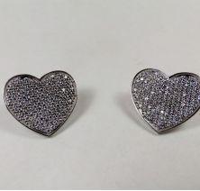 Серьги сердца Tiffany