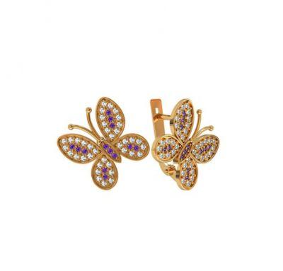 Сережки бабочка