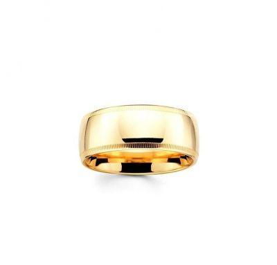Классическое обручальное кольцо без камней