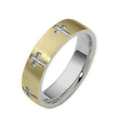 Обручальные кольца крестики