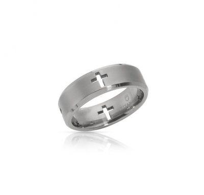 Венчальное кольцо крестики