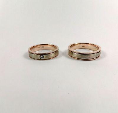 Свадебные кольца золотые