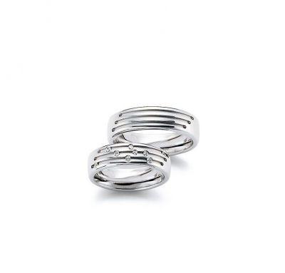 Обручальные кольца волна