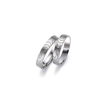 Обручальные кольца  рельеф
