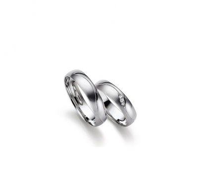 Венчальные кольца с белого золота