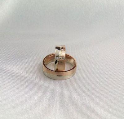 Обручальные кольца два вида золота