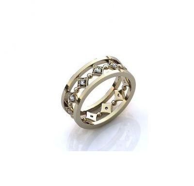 Свадебное кольцо ромбики