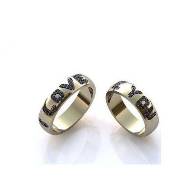 """Обручальные кольца """"я тебя люблю"""""""