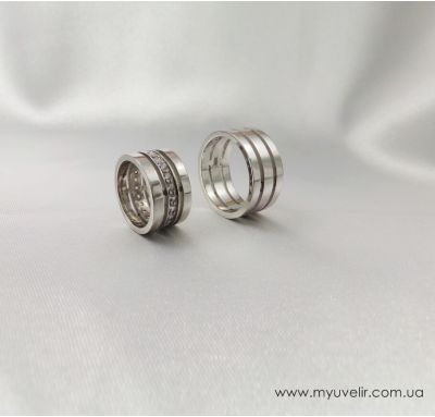 Обручальные кольца с трех частей