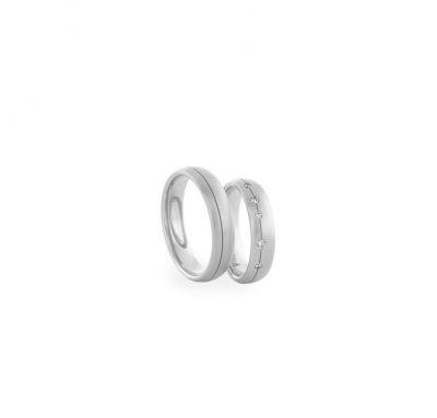 Свадебные кольца с белого золота