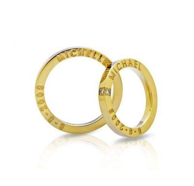 Венчальные кольца именные