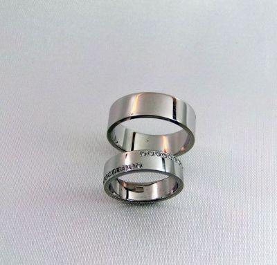 Венчальные кольца комбинированные