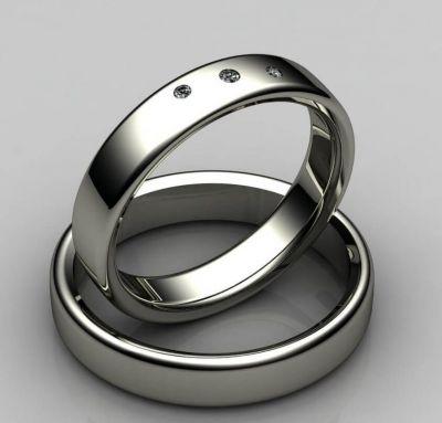 Свадебные кольца простые