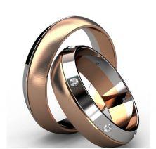 Обручальные кольца комбинированные