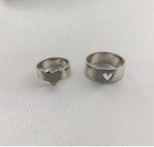Обручальные кольца сердце