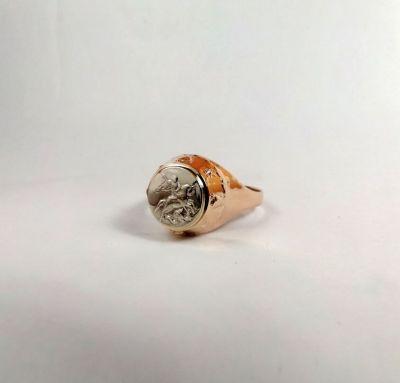 Мужское кольцо победоносец