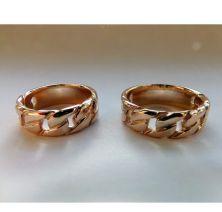 Обручальные кольца в виде цепочки