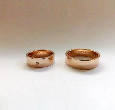 Свадебные кольца классика