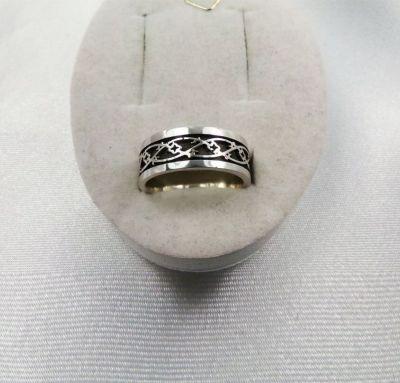 Обручальное кольцо русский узор