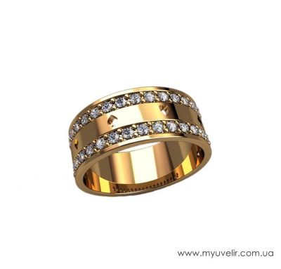 Обручальное кольцо карточная масть