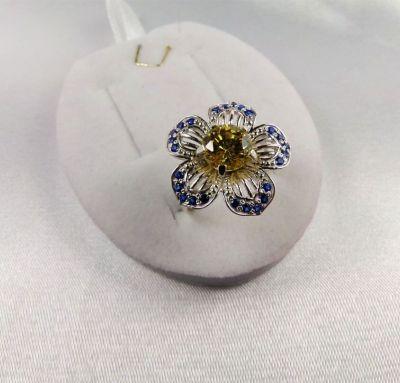 Колечко цветок
