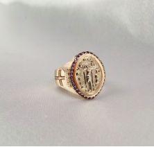 Мужское кольцо спаси и сохрани